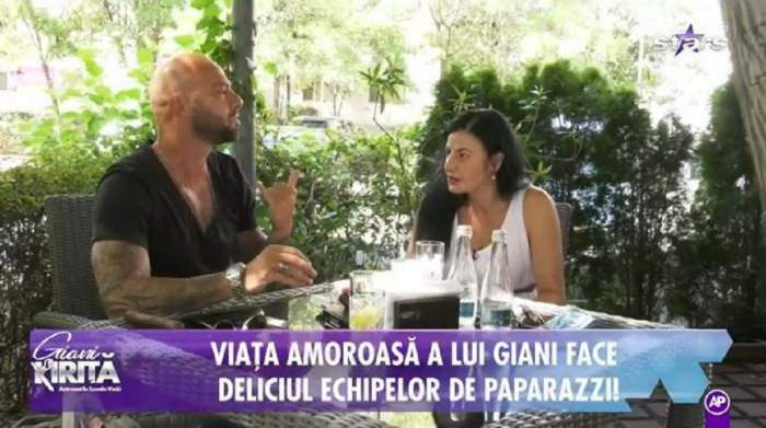 Giani Kiriță și sora lui la cafea. Sportivul e îmbrăcat într-un tricou negru, iar Magdalenă într-o rochie albă