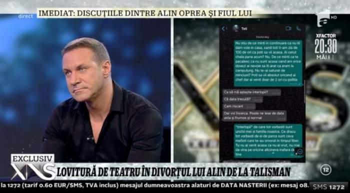 Discuțiile dintre Alin Oprea și fiul său, în plin scandal.