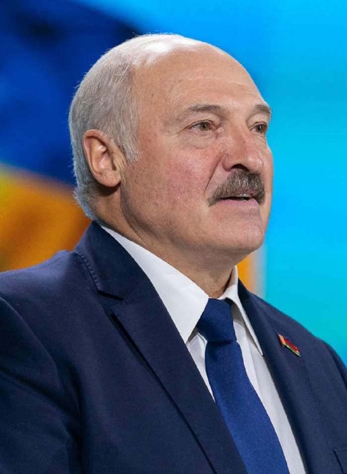 Alexandr Lukașenko în timpul unei adunări publice
