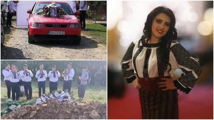 Cântăreața Daniela Cușnir în port popular și imagini de la înmormântarea ei, 17 septembrie 2020