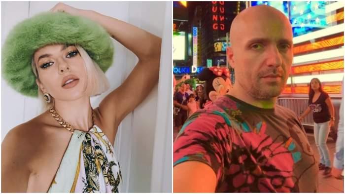 Lidia Buble cu pălărie verde și Costi Ioniță, selfie