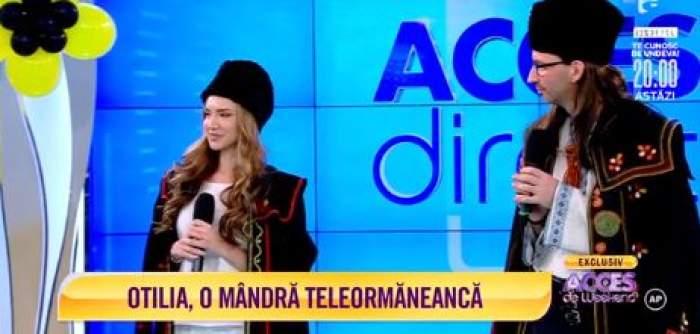 Otilia Bilionera și Florin Vasilică, îmbrăcați tradițional, au făcut show la Antena 1