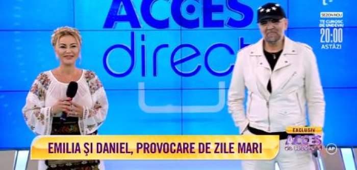 """Emilia Ghinescu și Daniel Iordăchioaie cântă """"Se mărită Mona"""" la Acces Direct"""
