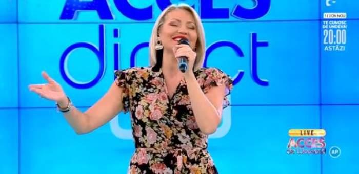 """Mirela Vaida a cântat la """"Acces Direct"""" un pamflet muzical"""