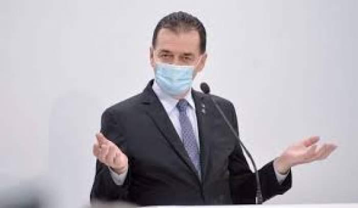 Ludovic Orban s-a afișat purtând masca de protecție în cadrul unei conferințe de presă