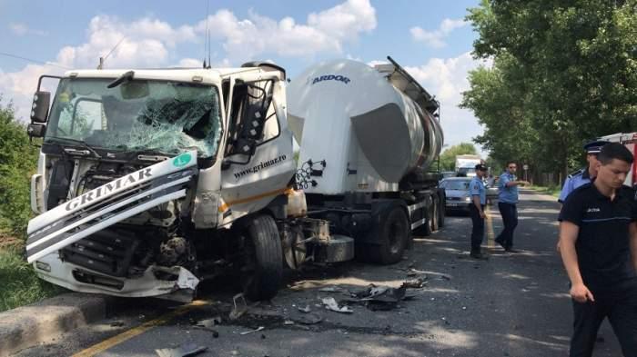 Accident grav la Giurgiu! Un bărbat a murit pe loc după ce a izbit o autoutilitară