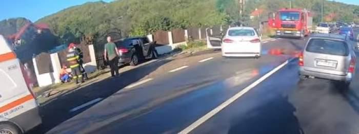 Imagine de la locul accidentului în care a fost implicat ministrul Transporturilor