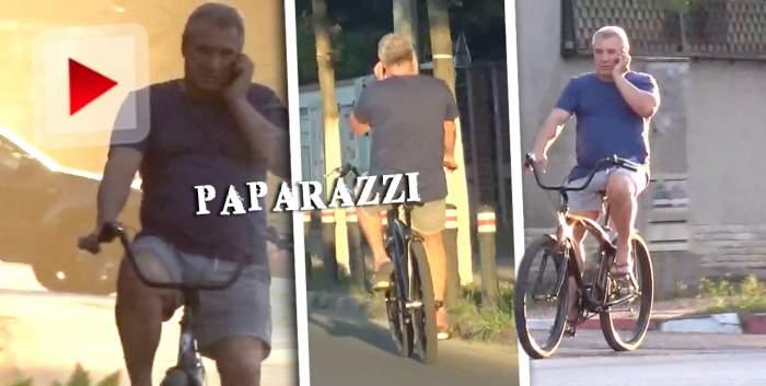 Adio, mașini de lux! Victor Becali a înlocuit opulența cu sportul! Afaceristul și-a asortat bicicleta cu... șlapii! Imagini inedite cu milionarul, pe străzile Capitalei! / PAPARAZZI