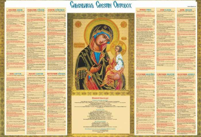 Calendar ortodox, luni, 21 septembrie.