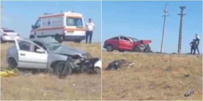 Imagini de la locul accidentului din Constanța