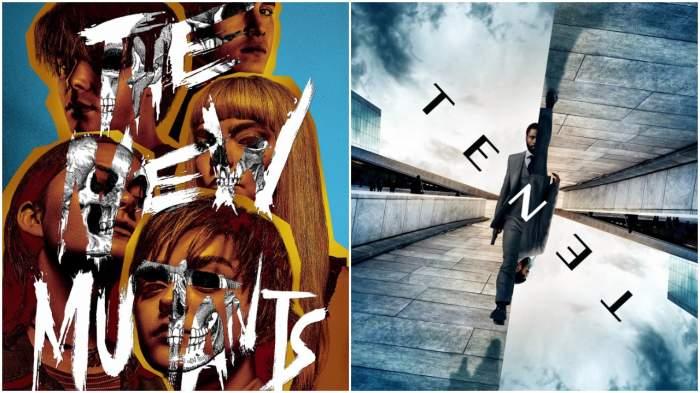 "Postere pentru filmele ""New Mutants"" și ""Tenet"""