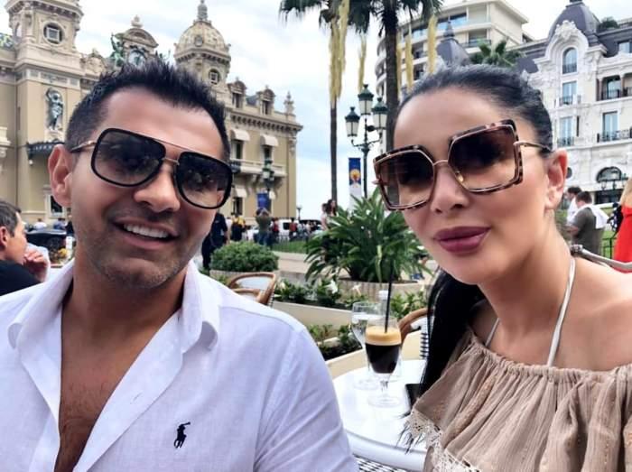Brigitte și Florin Patramă în vacanță, cu ochelari de soare