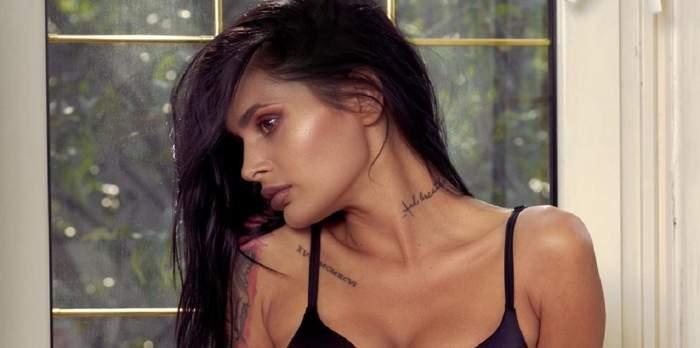 Diana Constantin pozează sexy într-un sutien negru