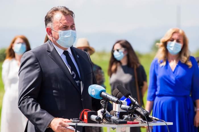 Nelu Tătaru la inaugurarea șantierului noului Spital Județean din Sibiu, 30 iulie 2020