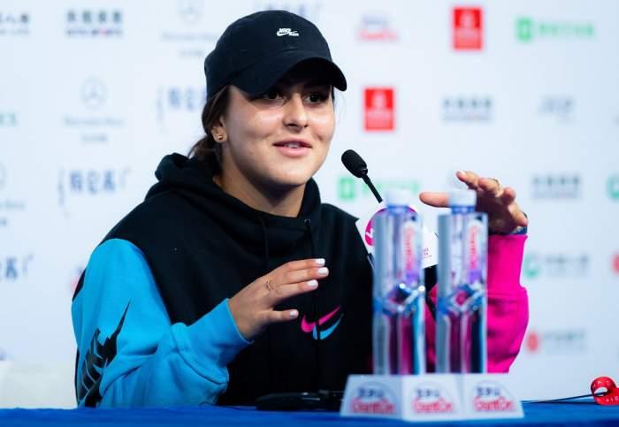 Bianca Andreescu, la conferința de presă după meciul cu Jennifer Brady de la China Open, 5 octombrie 2019