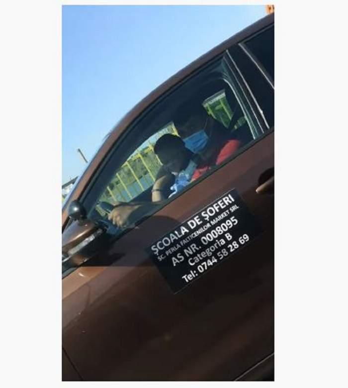 Politistul examinator a adormit in dreapta candidatului pentru permisul auto