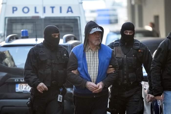 Gheorghe Dincă cu polițiștii!