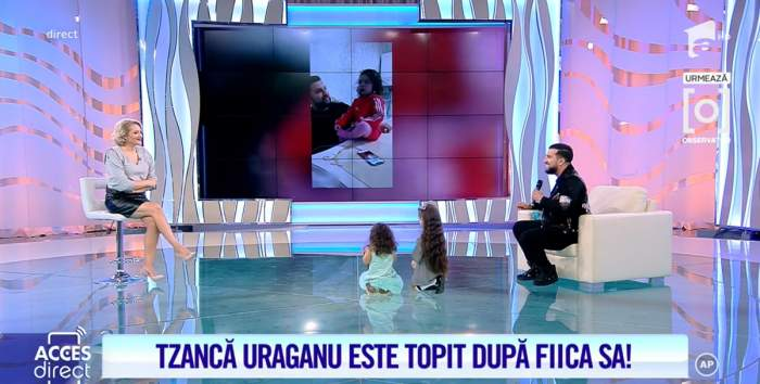 Tzanca Uraganu și fetița la Acces Direct