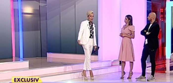 Florin Marin a purtta tocuri și un costum alb în emisiunea de la Antena Stars