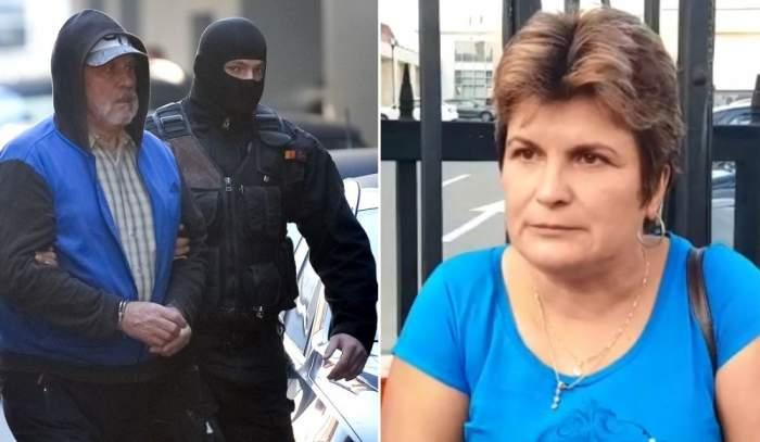 Gheorghe Dincă cu barbă escortat de polițiști, Monica Melencu tunsă scurt cu tricou albastru