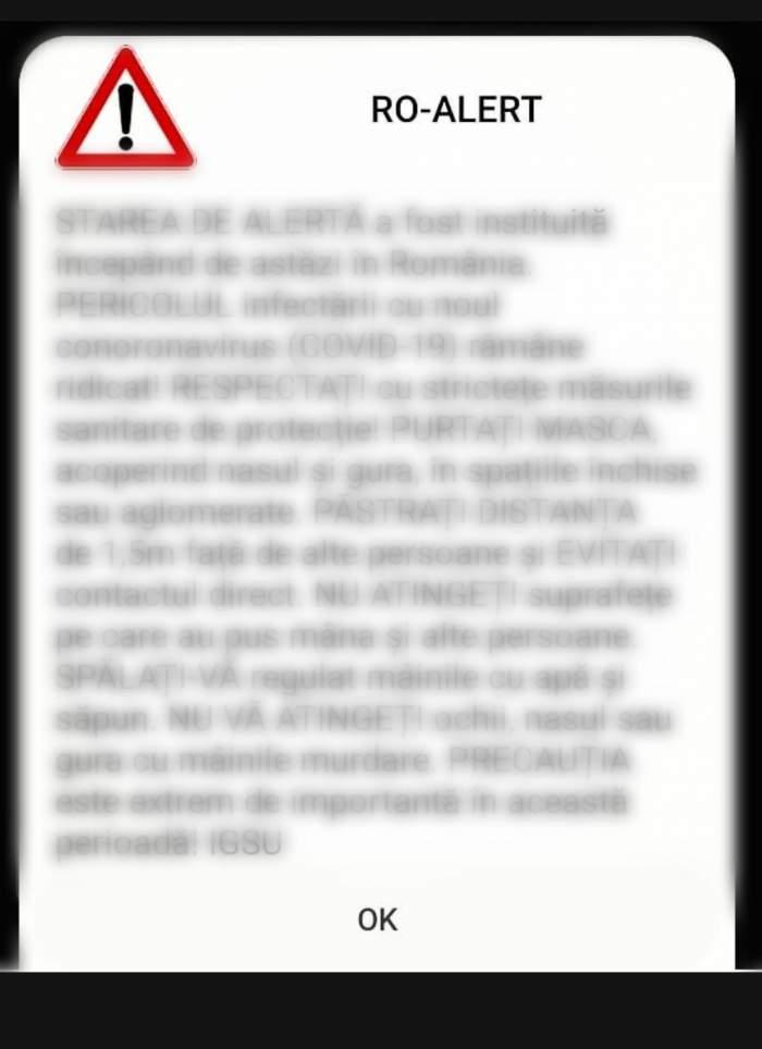 Mesaje false de tip RO-ALERT, primite de mai mulți cetățeni din Prahova. Textul era legat de cazurile de COVID-19 la secțiile de votare. Avertismentul autorităților