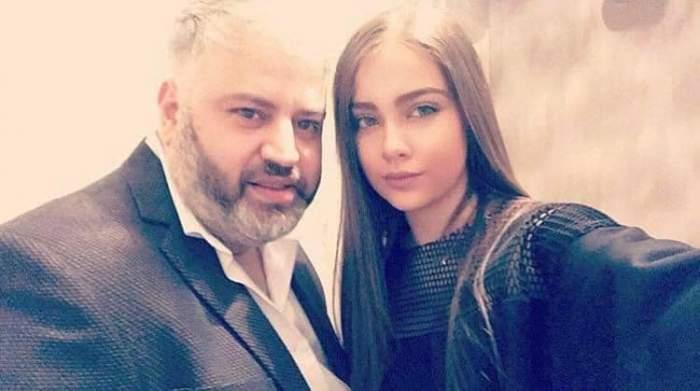 Nepoata lui Florin Salam cu tatăl ei