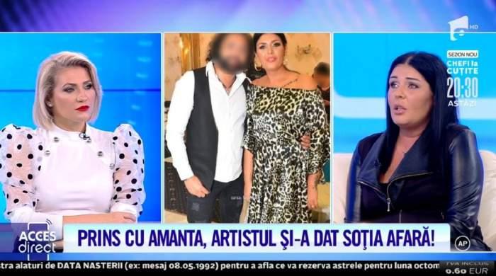 """Soția lui Ali Sultanul a venit la """"Acces Direct"""". Femeia e îmbrăcată în negru."""