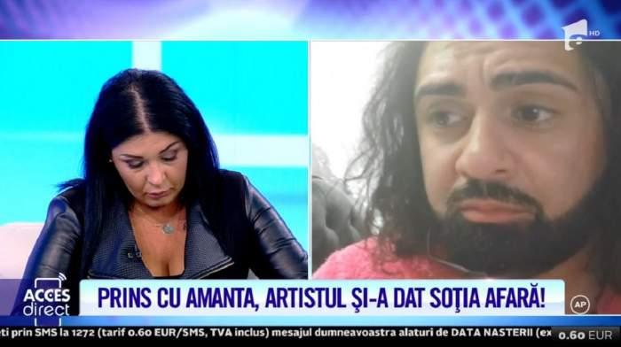 """Ali Sultanul vorbește prin apel video la """"Acces Direct"""". Soția lui plânge în platou."""