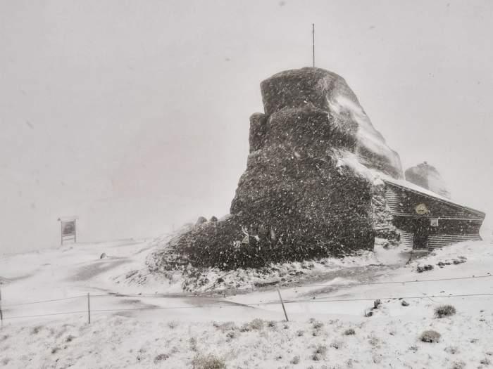 Zăpadă la Vârful Omu, 30 septembrie