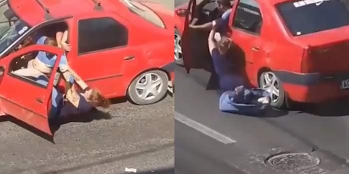 """""""Se fură!"""" O femeie disperată este luată târâș de hoți. Vecinii au filmat momentul incredibil / VIDEO"""