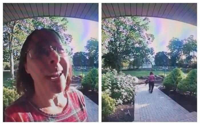 """Reacția incredibilă a unui curier, nemulțumit de baccșișul primit de la client! Angajatul s-a răzbunat crunt: """"Nu cred că realizezi"""" / VIDEO"""
