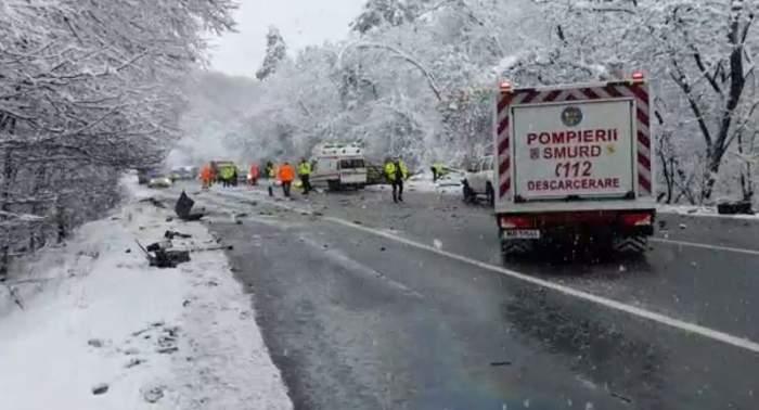 Accidet teribil în județul Argeș! Trei persoane au murit, iar o alta se află în stare foarte gravă / FOTO