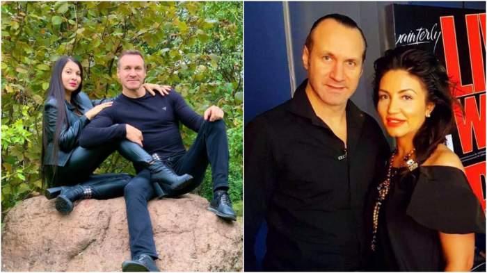 Colaj cu Alin Oprea și noua sa iubită/ Alin Oprea și Larisa, fosta soție.