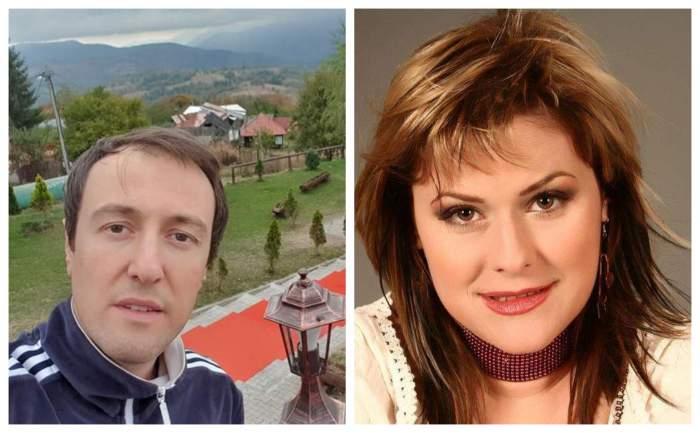 Calin Geambasu este intr-o zona de munte, Malina Olinescu este la o sedinta foto