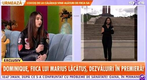 Dominique Lăcătuș, îmbrăcată în negru, la Star Matinal
