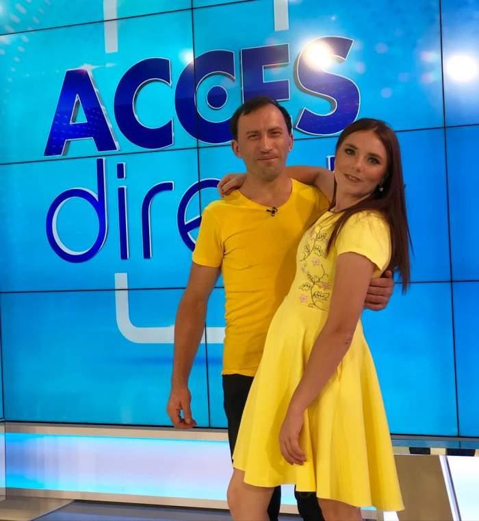 Vulpița și Viorel în platou la Acces Direct.