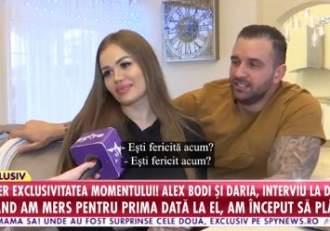 """Când va avea loc nunta dintre Alex Bodi și Daria Radionova? Planurile de viitor sunt deja făcute: """"Sunt cel mai îndrăgostit"""" / SUPEREXCLUSIVITATE / VIDEO"""