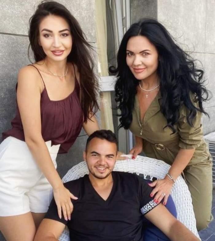 Ioana Simion alături de fiul și iubita lui
