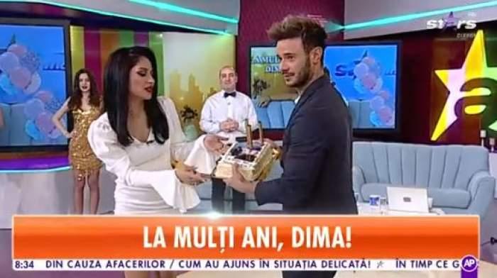 Dima Trofim și Nasrin, zâmbitori, cu un delicios trot de frișcă în mână