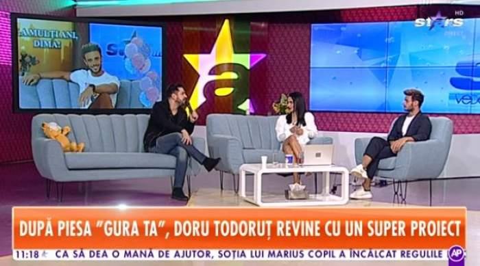 Doru Tudoruț, pe canapeaua de la Star Matinal, alături de Nasrin și Dima Trofim