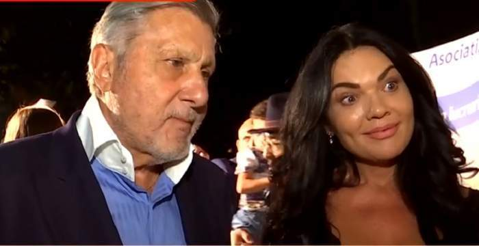 Ioana și Ilie Năstase în timpul unui interviu.