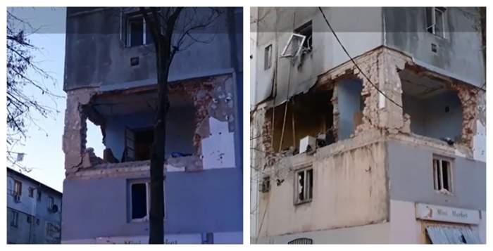 Explozie devastatoare, urmată de incendiu, într-un bloc din Găești! O persoană a fost rănită, iar alte zeci au fost evacuate de urgență / VIDEO