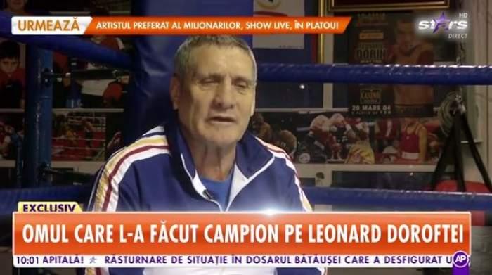 Cu lacrimi în ochi, Titi Prosop, vorbește, la Antena Stars, despre Leonard Doroftei. Amintiri de colecție din tinerețea antrenorului