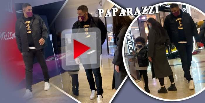 """Când nu este în ring, """"atacă"""" la cumpărături! Luptătorul Benny Adegbuyi, surprins alături de familie într-o seară la mall / PAPARAZZI"""