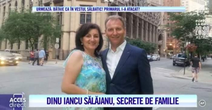 Dinu Iancu Sălăjanu și soția, îmbrățișați și zâmbitori