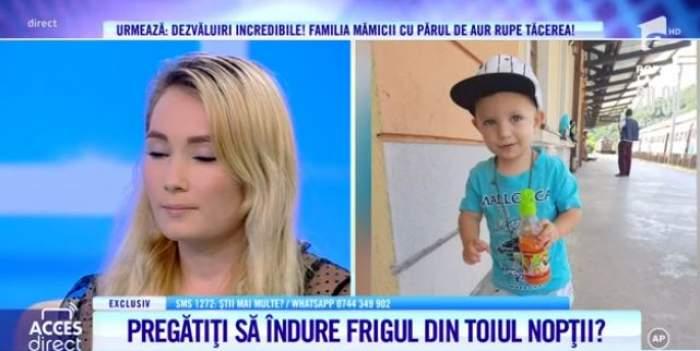 Colaj foto cu Andreea, mama părăsită, și fiul ei de doar trei ani