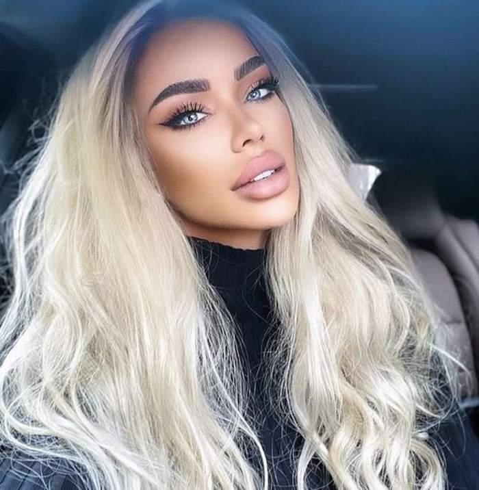 Bianca Drăgușanu, selfie în mașină