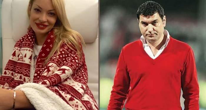 Colaj foro cu Valentina Pelinel și Cristi Borcea, îmbrăcați în roșu