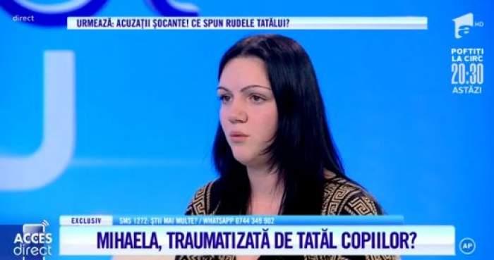 """Florina Oprescu, îmbrăcată în negru, la """"Acces Direct"""""""