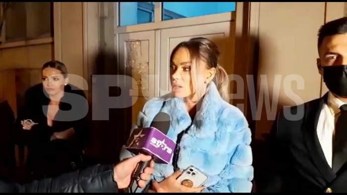"""Bianca Drăgușanu, primele declarații după ce a ajuns la secția de poliție: """"Am fost amenințată eu și fetița mea"""" / VIDEO PAPARAZZI"""